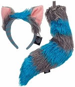 DISNEYS Cheshire Cat Ears and Tail Blue Grey